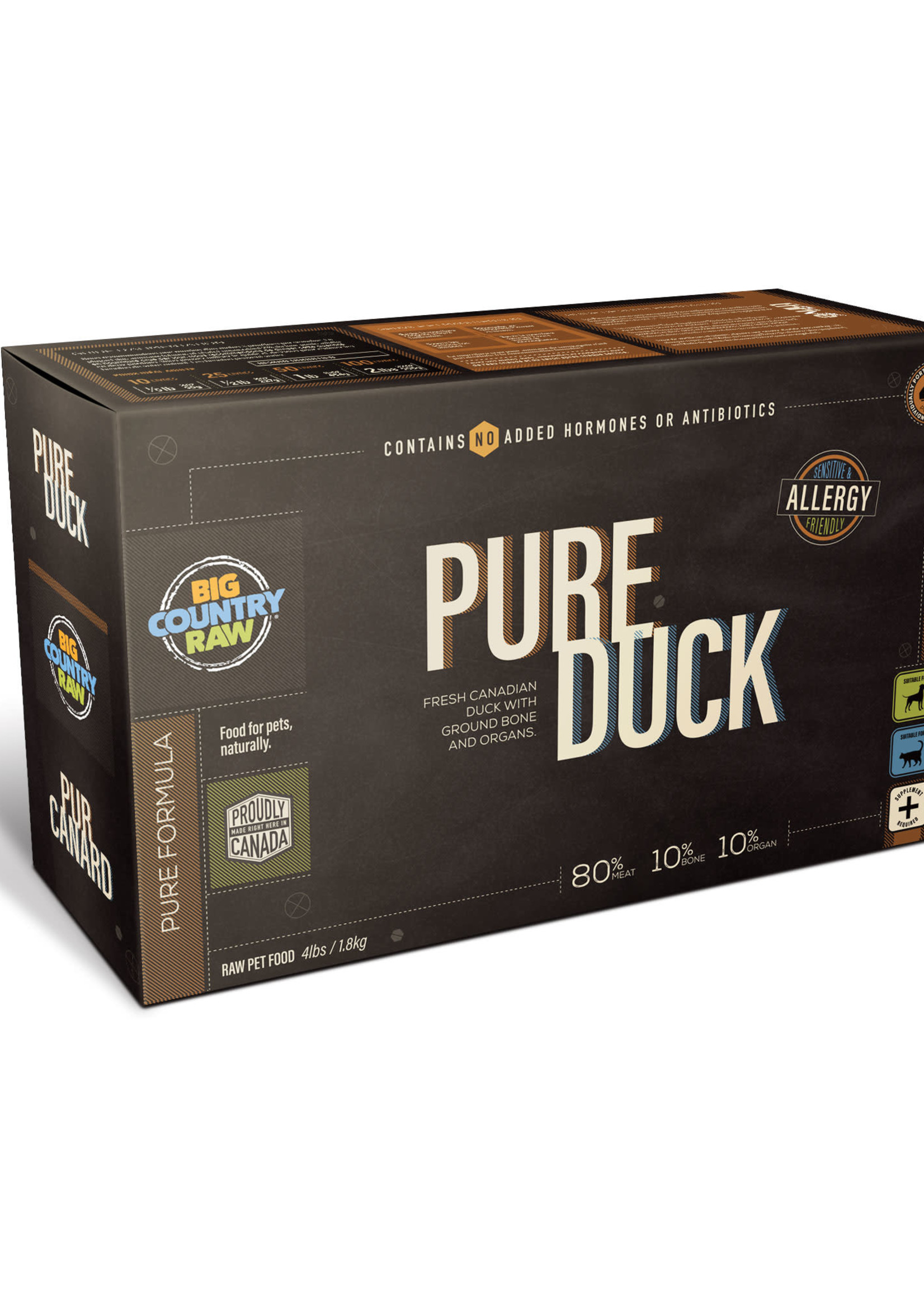 Big Country Raw Big Country Raw Pure Duck 4x1lb
