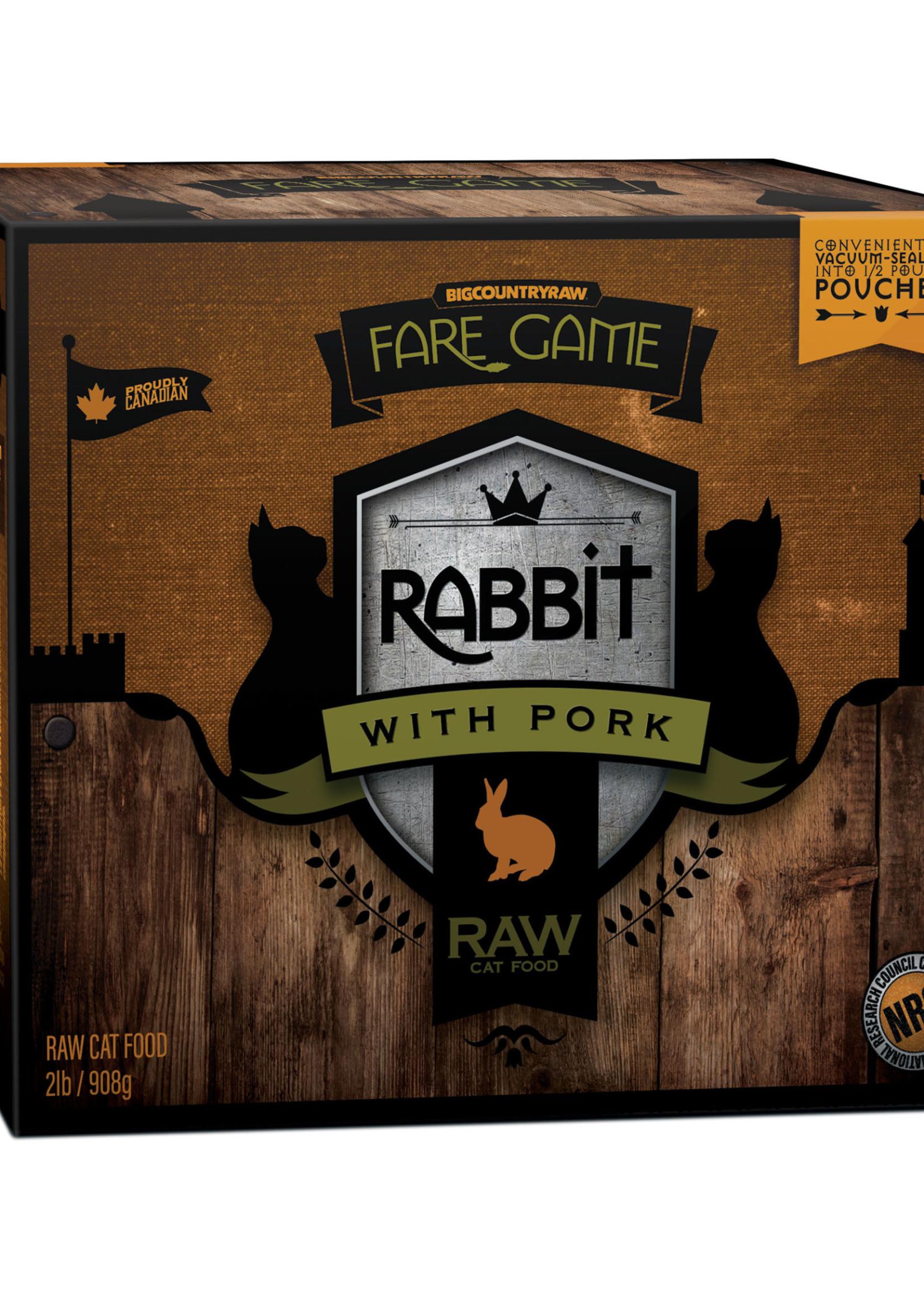 Fare Game Fare Game Rabbit with Pork 2lbs