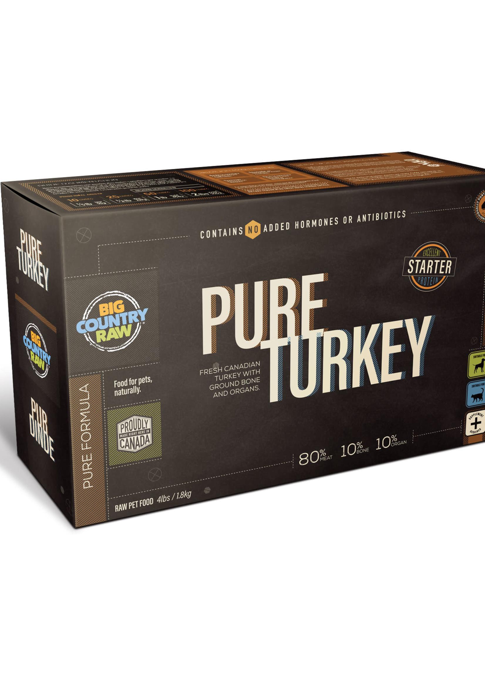 Big Country Raw Big Country Raw Pure Turkey 4x1lb