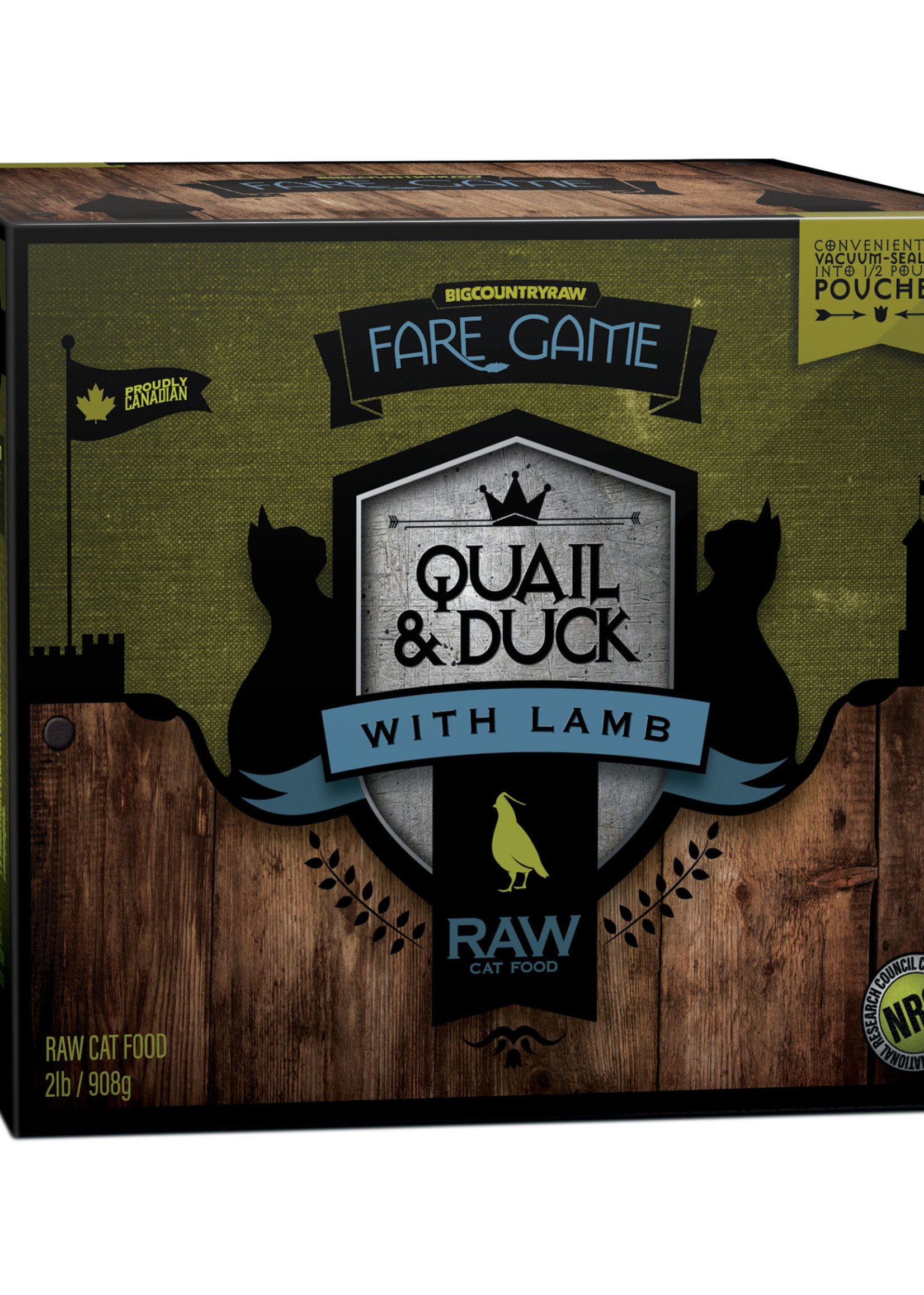 Fare Game Fare Game Quail and Duck with Lamb 2lbs
