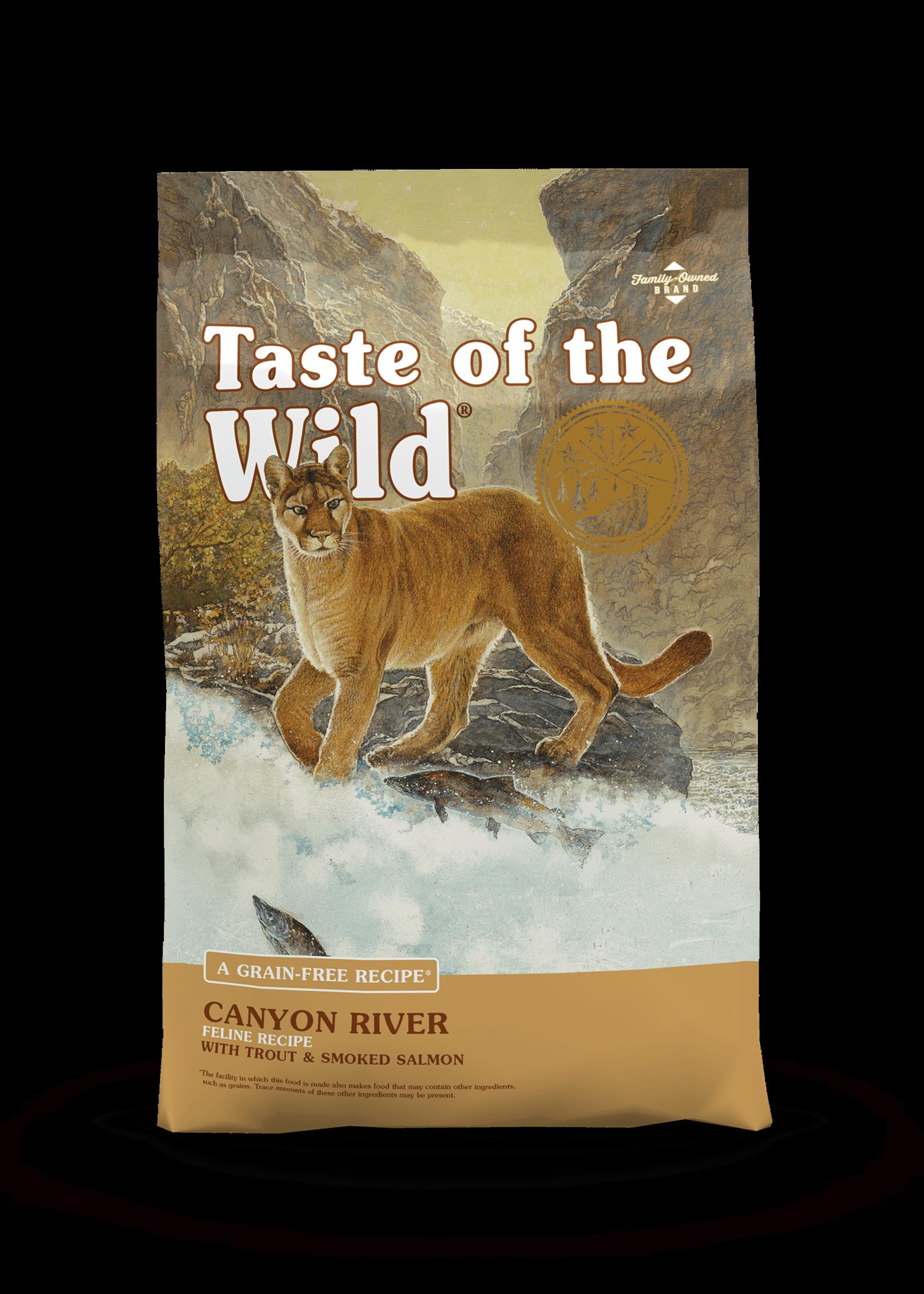 Taste of the Wild® TASTE OF THE WILD GRAIN FREE CANYON RIVER RECIPE w/TROUT & SMOKED SALMON 14lbs