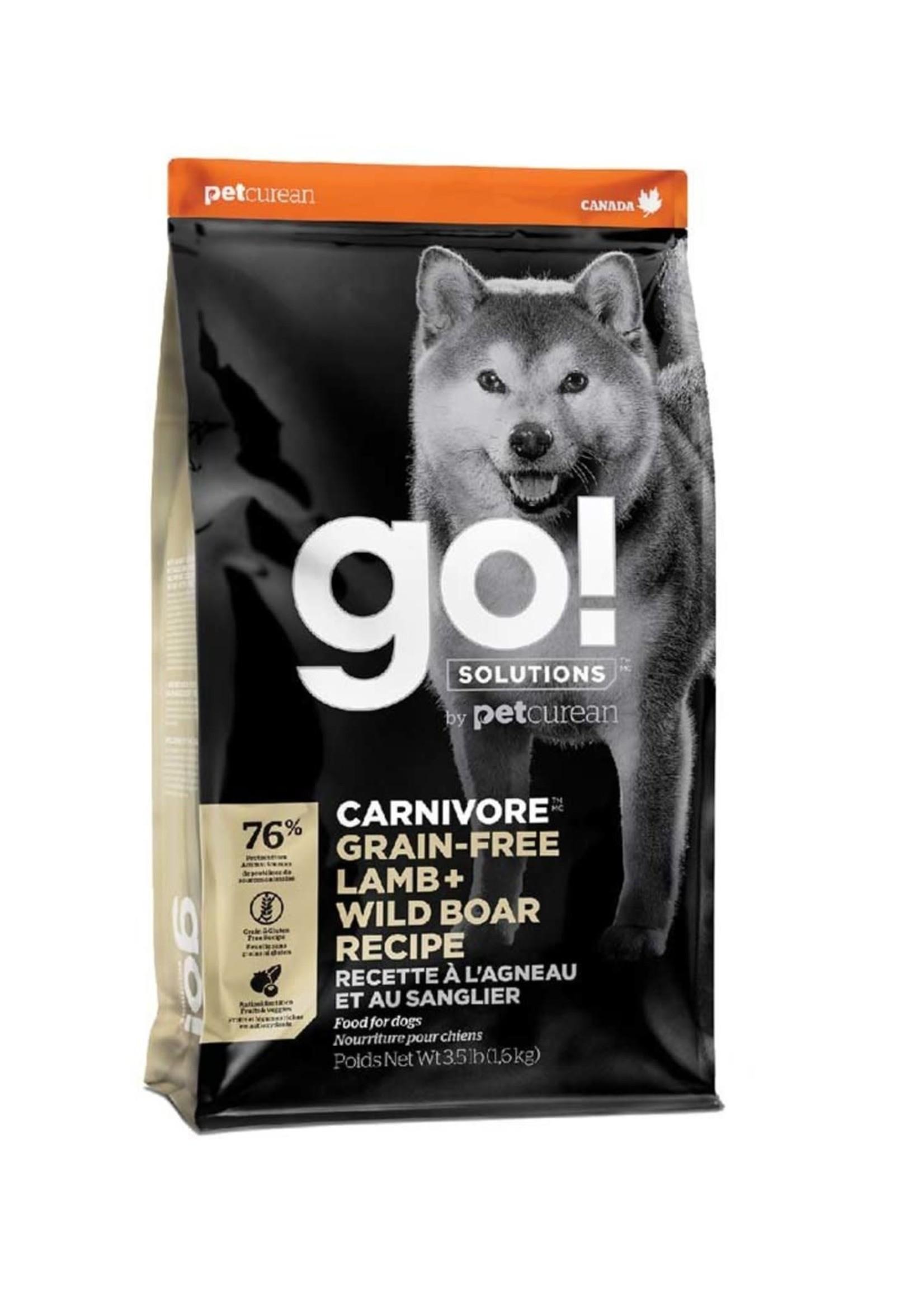 Go! Solutions™ go! Carnivore™ GF Lamb + Wild Boar Recipe 3.5lbs