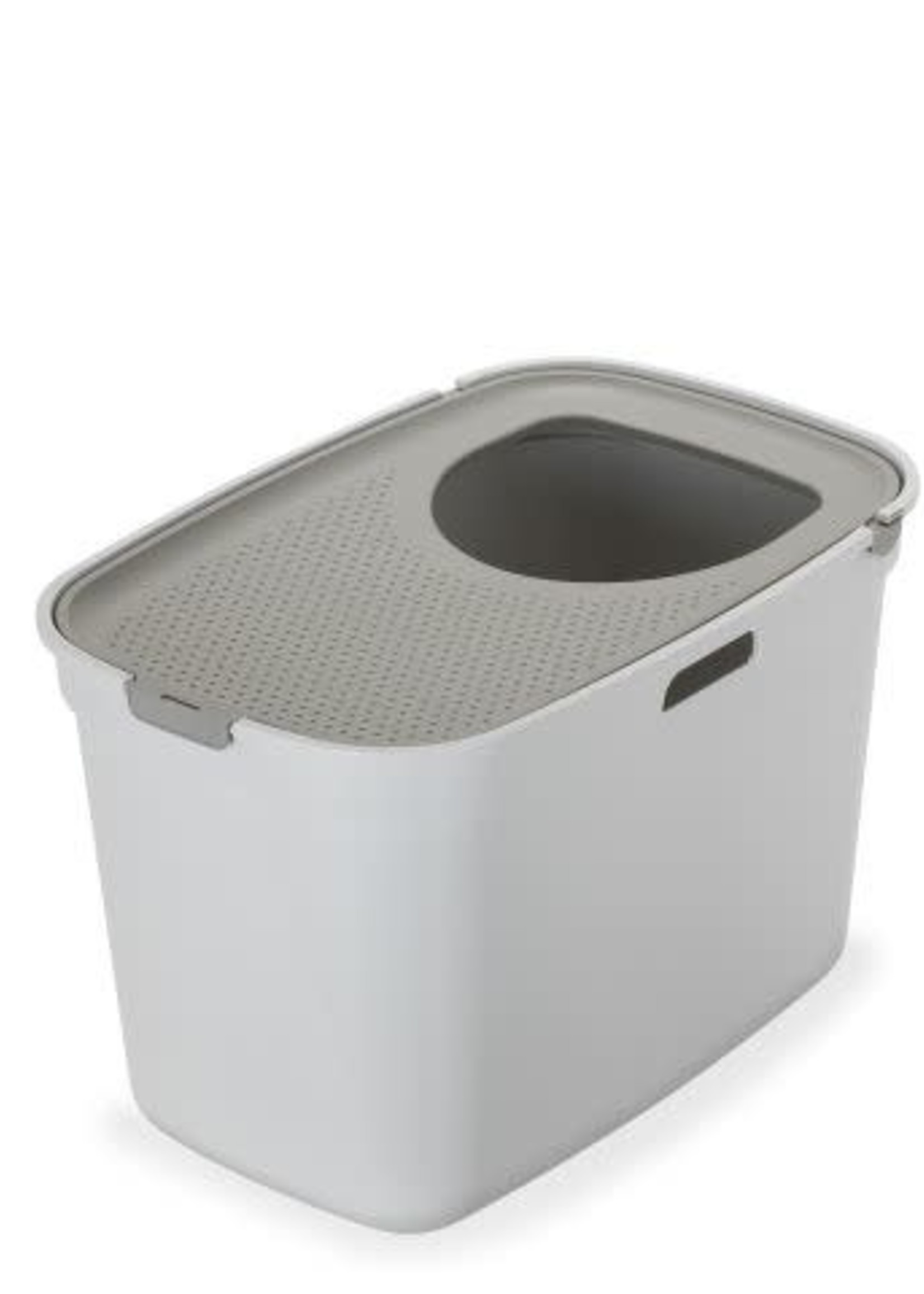 Moderna® Top Cat Closed Litter Box White & Warm Grey