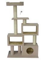 "ANIMAL TREASURES A.T. CAT TREE SCRATCHER TOWER CONDO 51"""