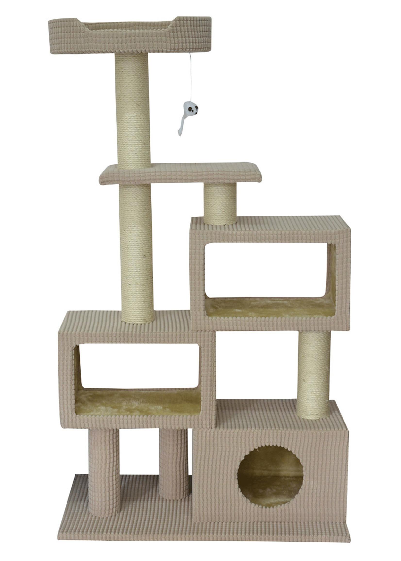 "Animal Treasures Animal Treasures Cat Tree - Tower Condo 51"""