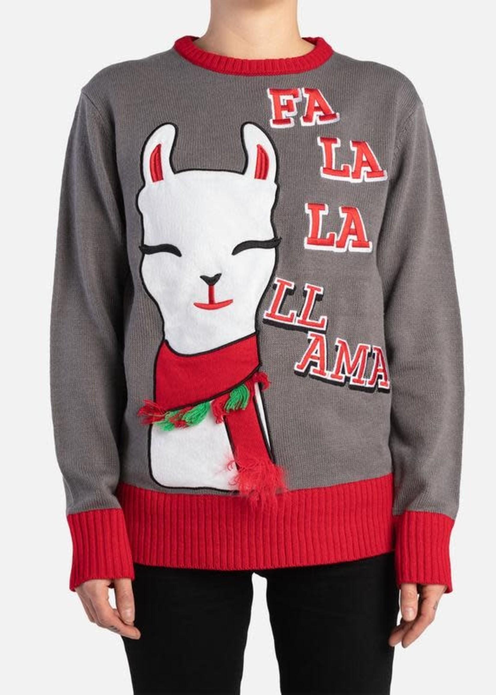 Silver Paw™ Silver Paw Human Sweater Fa-la-la-llama Medium