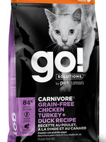 PETCUREAN GO! CARNIVORE CAT G.F. CHICKEN,TURKEY&DUCK 8lbs
