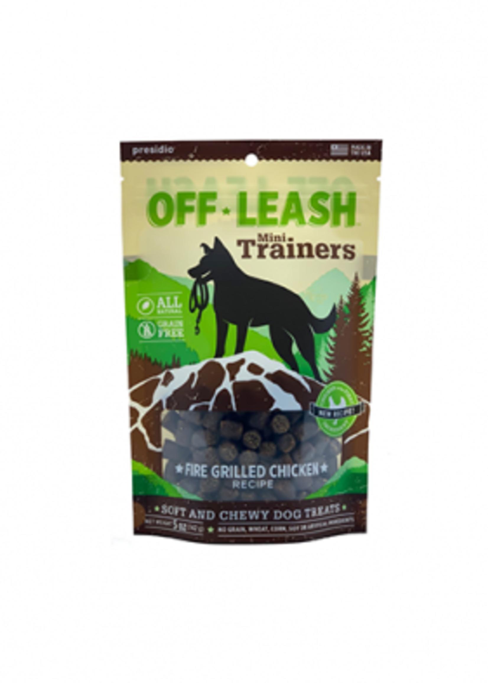 Off-Leash™ Presidio Off-Leash Mini Trainers Fire Grilled Chicken 5oz