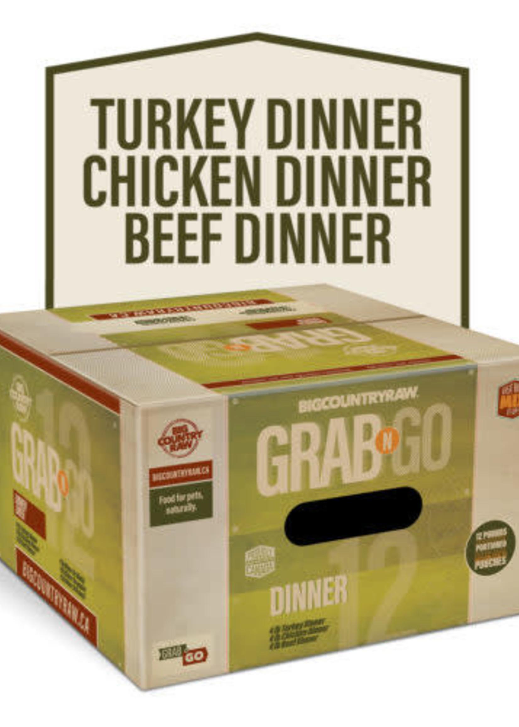 Big Country Raw Big Country Raw Grab N Go Dinner 12lbs