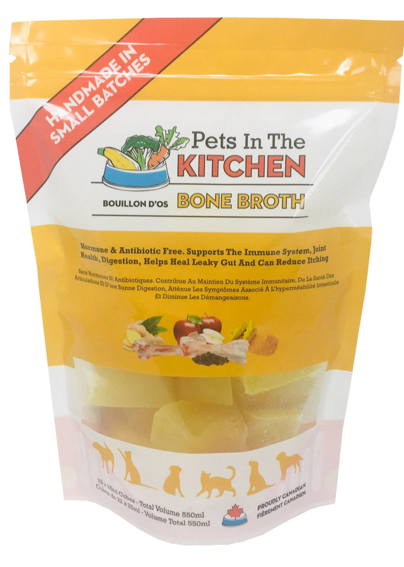 Pets in the KITCHEN Pets in the Kitchen Frozen Bone Broth Cubes 550mL