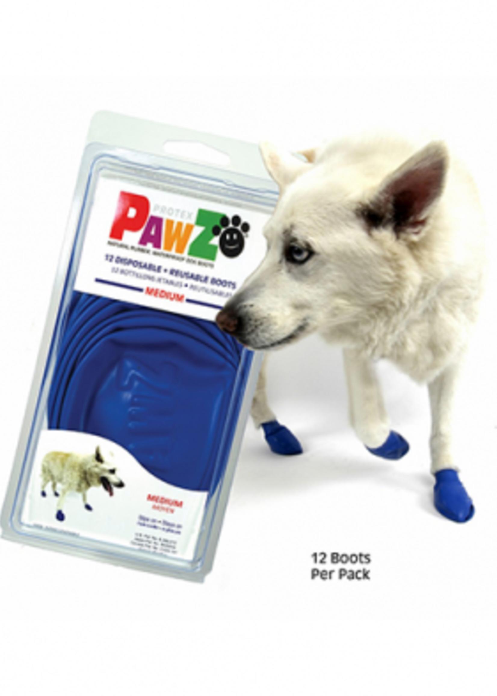 PAWZ PAWZ RUBBER DOG BOOTS BLUE Mdm 12pk