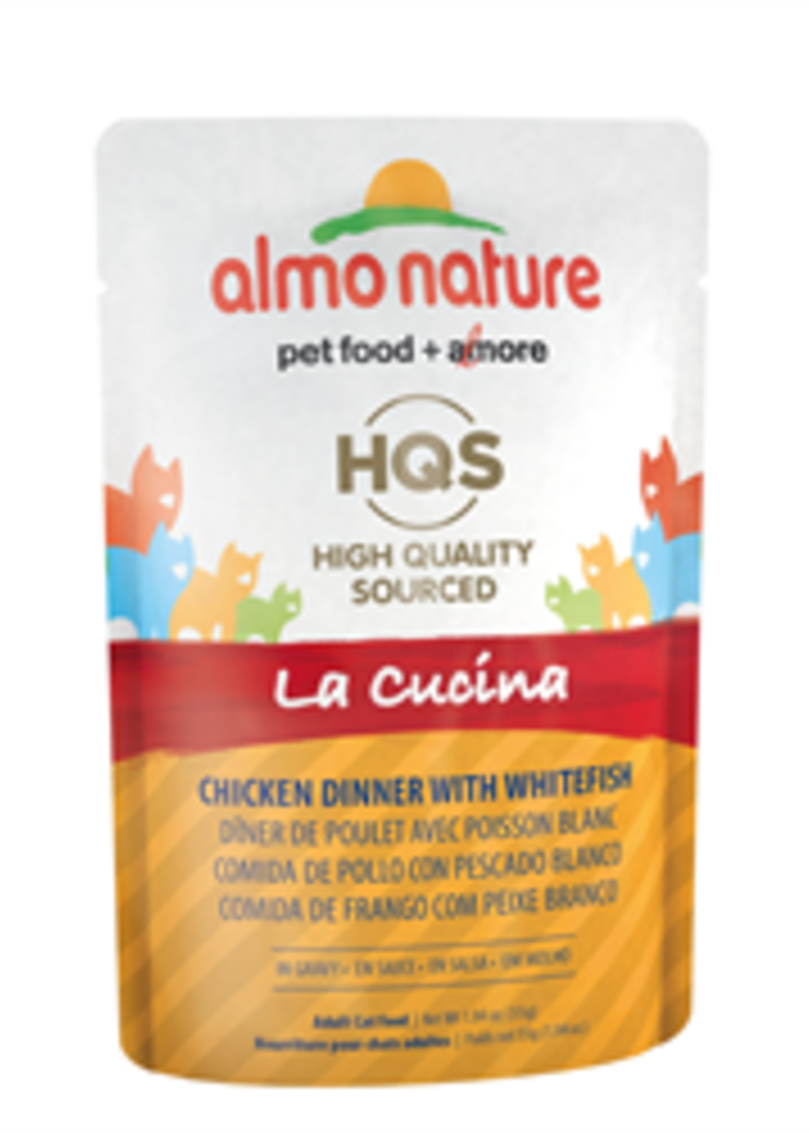 Almo Nature© Almo Nature HQS La Cucina Chicken Dinner with Whitefish in Gravy 55g