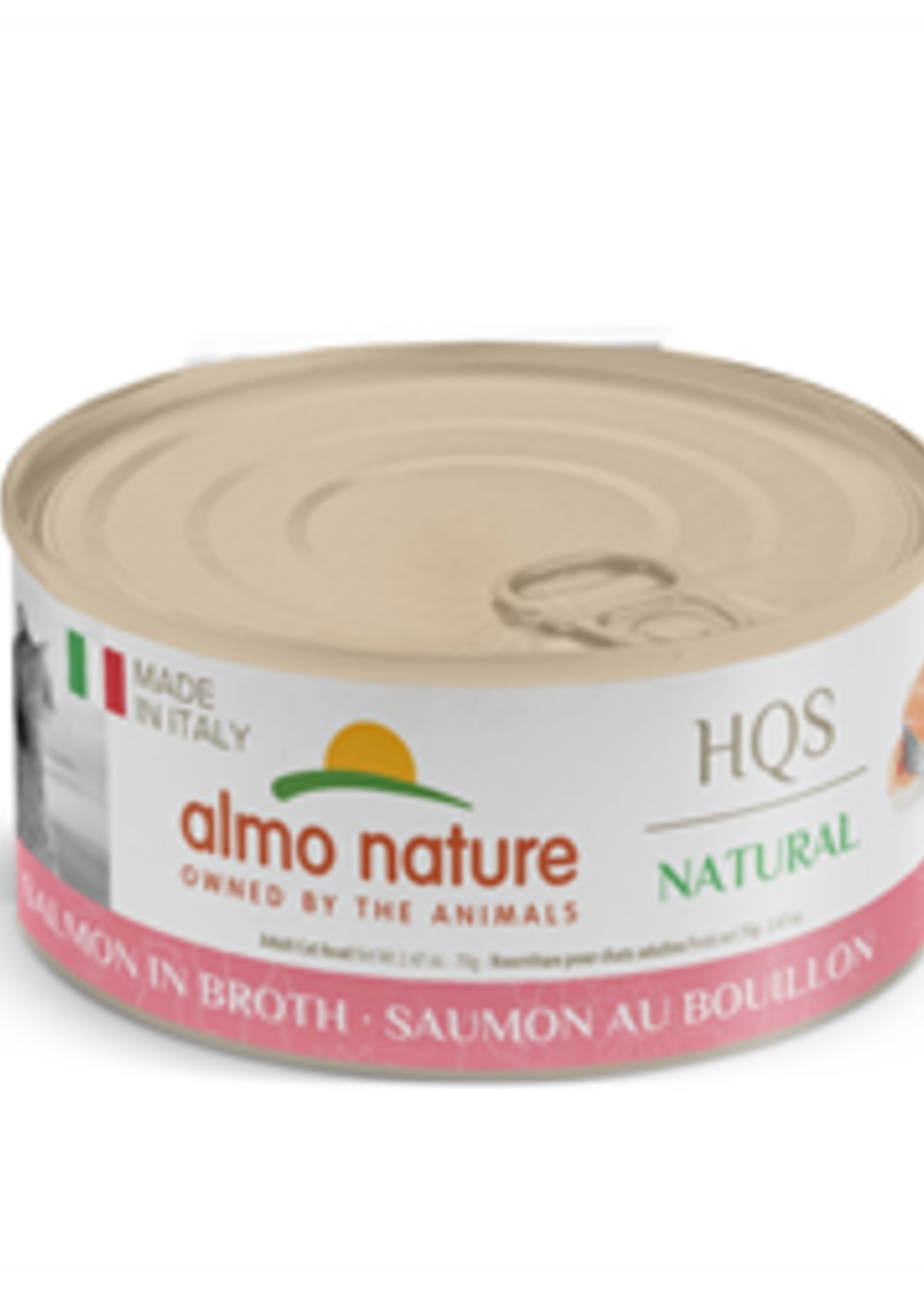 Almo Nature© Almo Nature HQS Made in Italy Salmon in Broth 70g