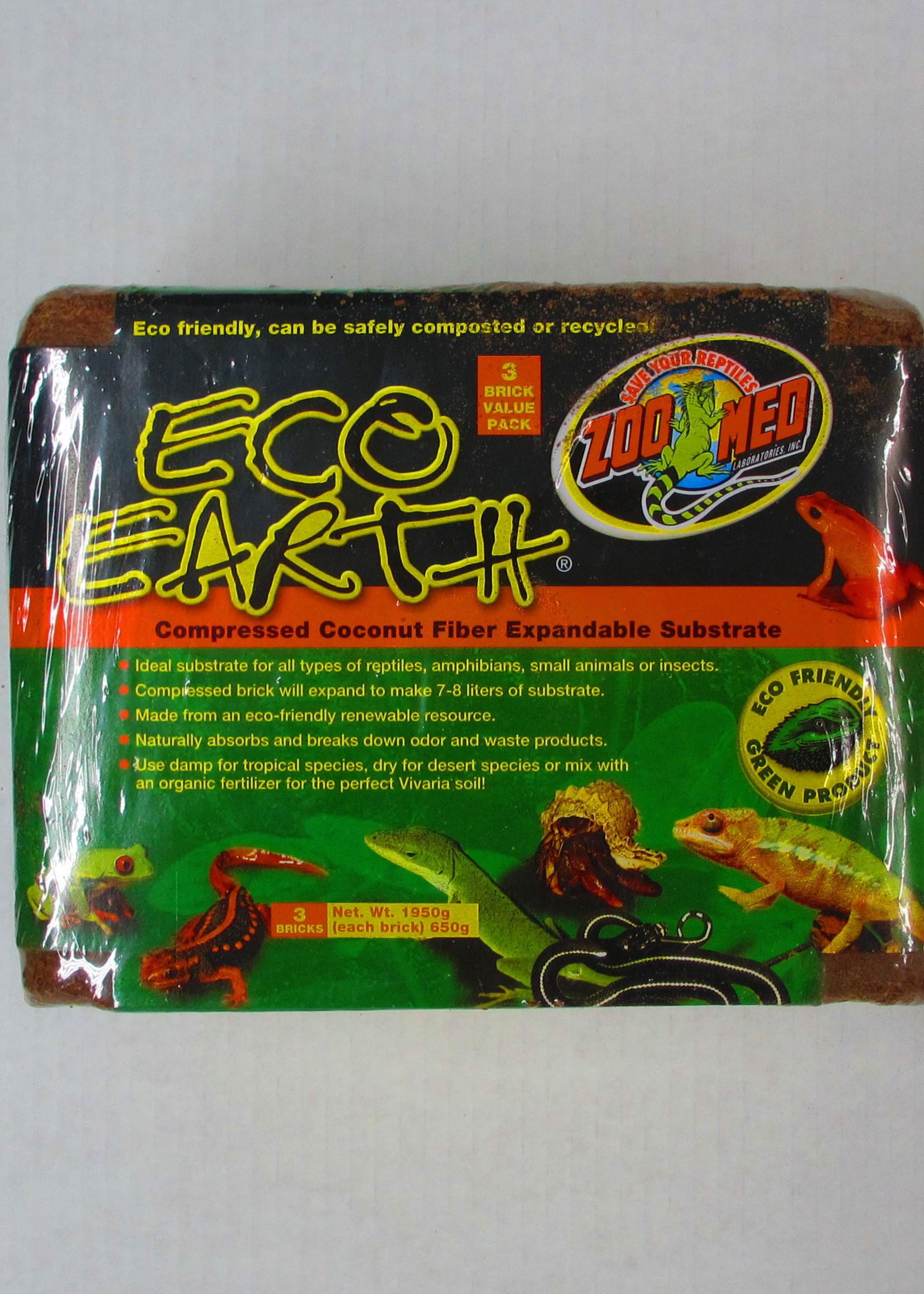 ZooMed® Zoo Med Eco Earth Coconut Fiber Substrate - 3 Bricks