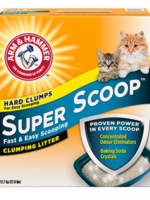 ARM & HAMMER SUPER SCOOP CLUMPING LITTER Scented 28lbs
