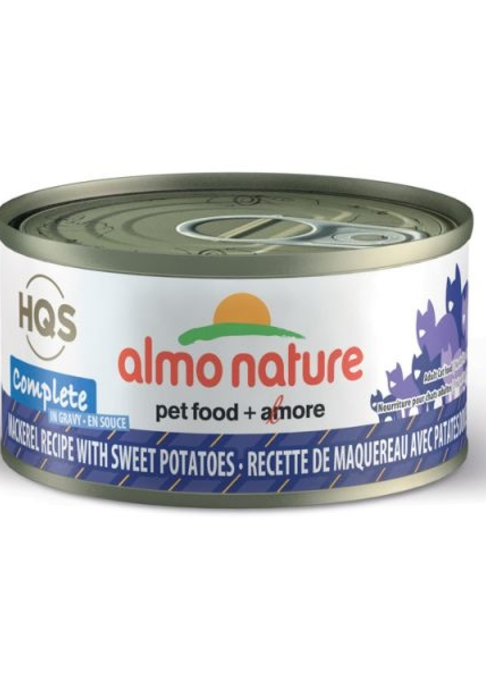 Almo Nature© Almo Nature HQS Complete Mackerel Recipe with Sweet Potatoes in Gravy 70g