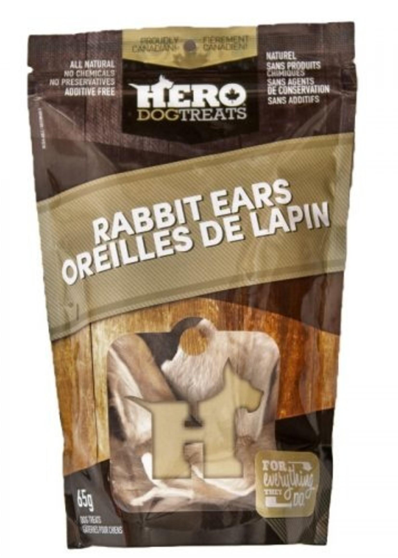 HeroDogTreats™ Hero Dog Treats Dehydrated Rabbit Ears 65g