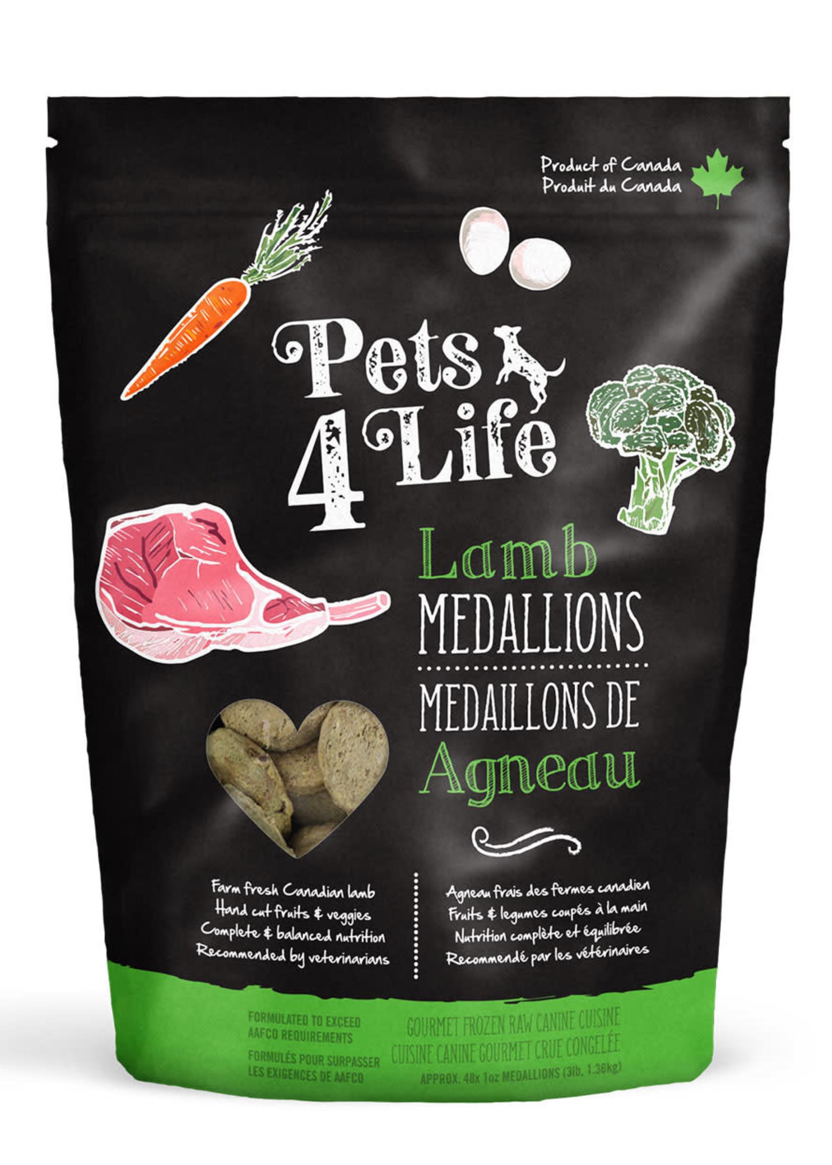 Pets4Life Pets4Life Lamb Medallions 3lbs