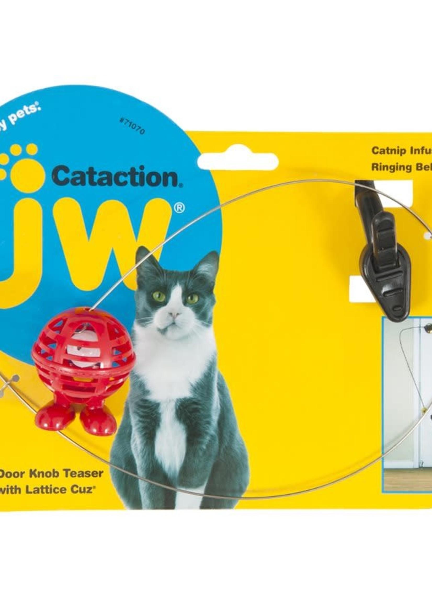 JW® Jw Cataction® Door Knob Teaser with Lattice Cuz®