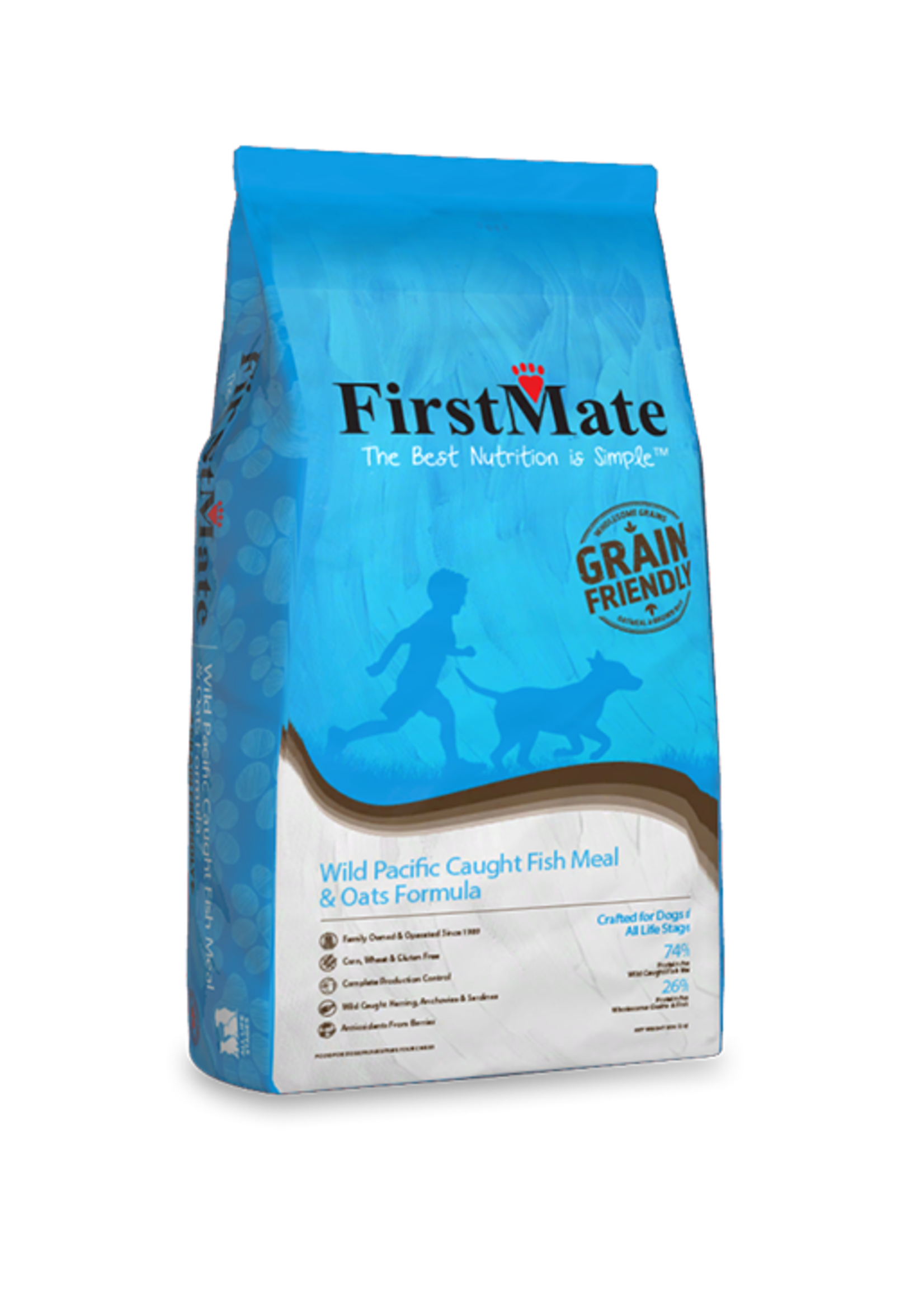 FirstMate FirstMate Wild Pacific Caught Fish Meal & Oats Formula 25lbs