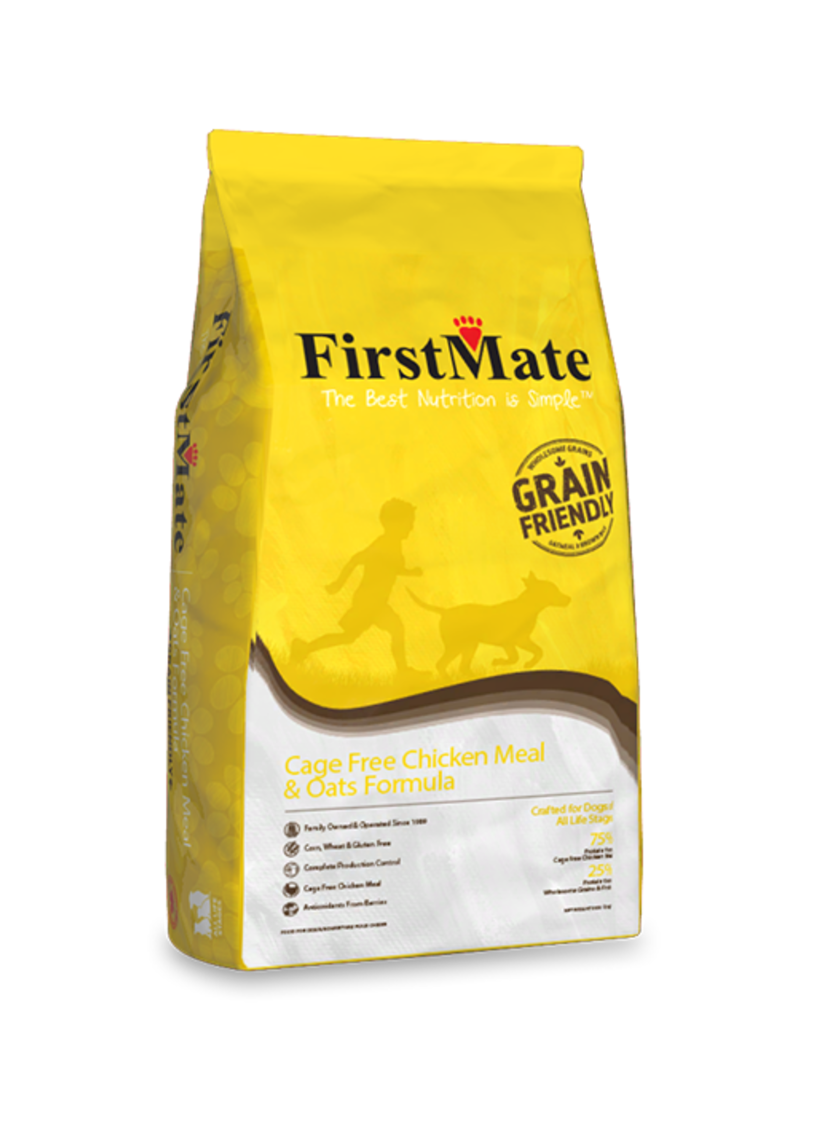 FirstMate FirstMate Cage Free Chicken Meal & Oats Formula 5lbs