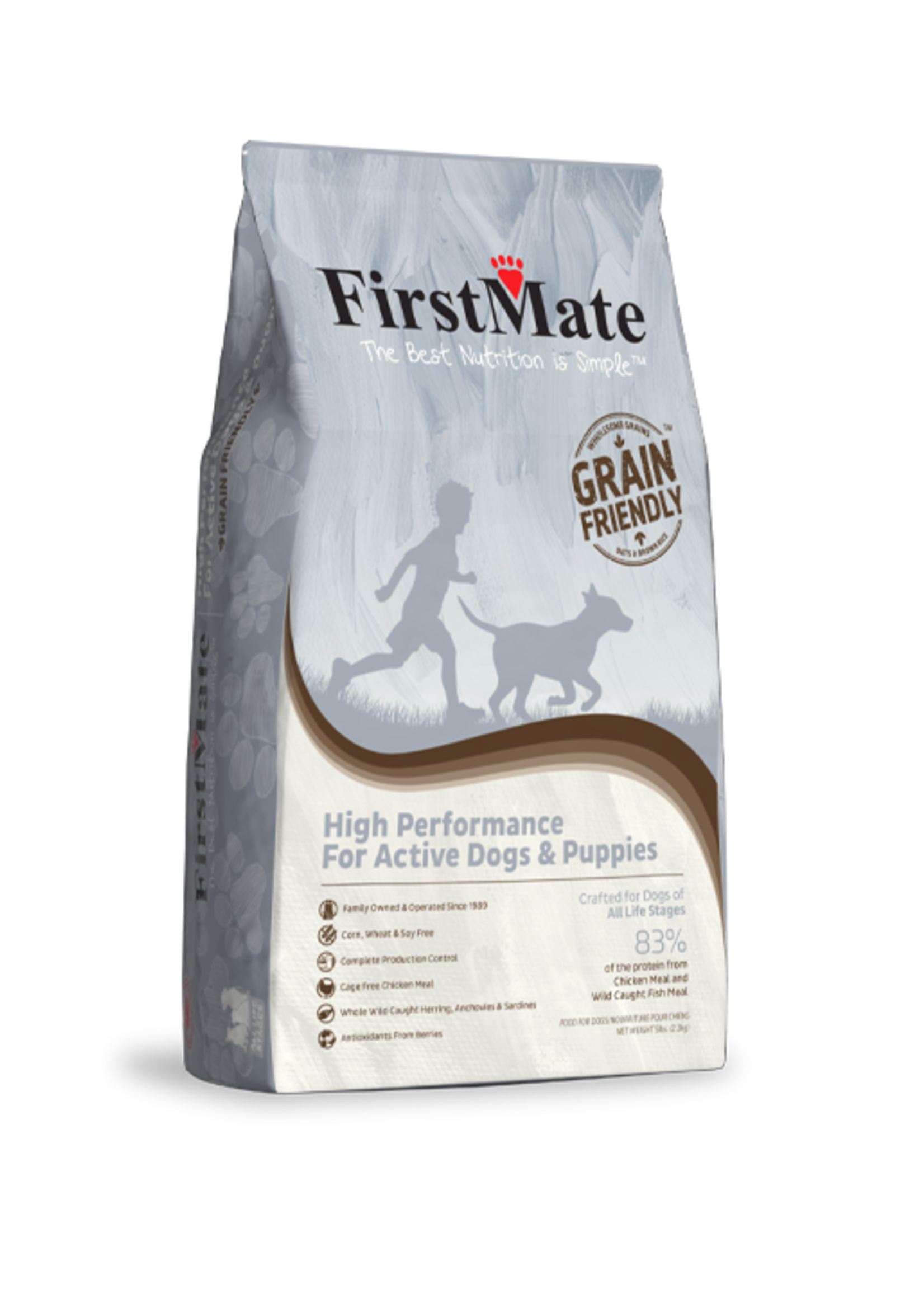 FirstMate FirstMate High Performance for Active Dogs & Puppies 5lbs