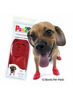 PAWZ PAWZ DOG BOOTS SM RED 12pK