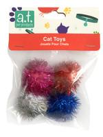 Animal Treasures Glitter Poms Ball