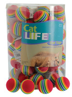 """Penn-Plax® Cat Life™ Rainbow Foam Ball 1.5"""""""