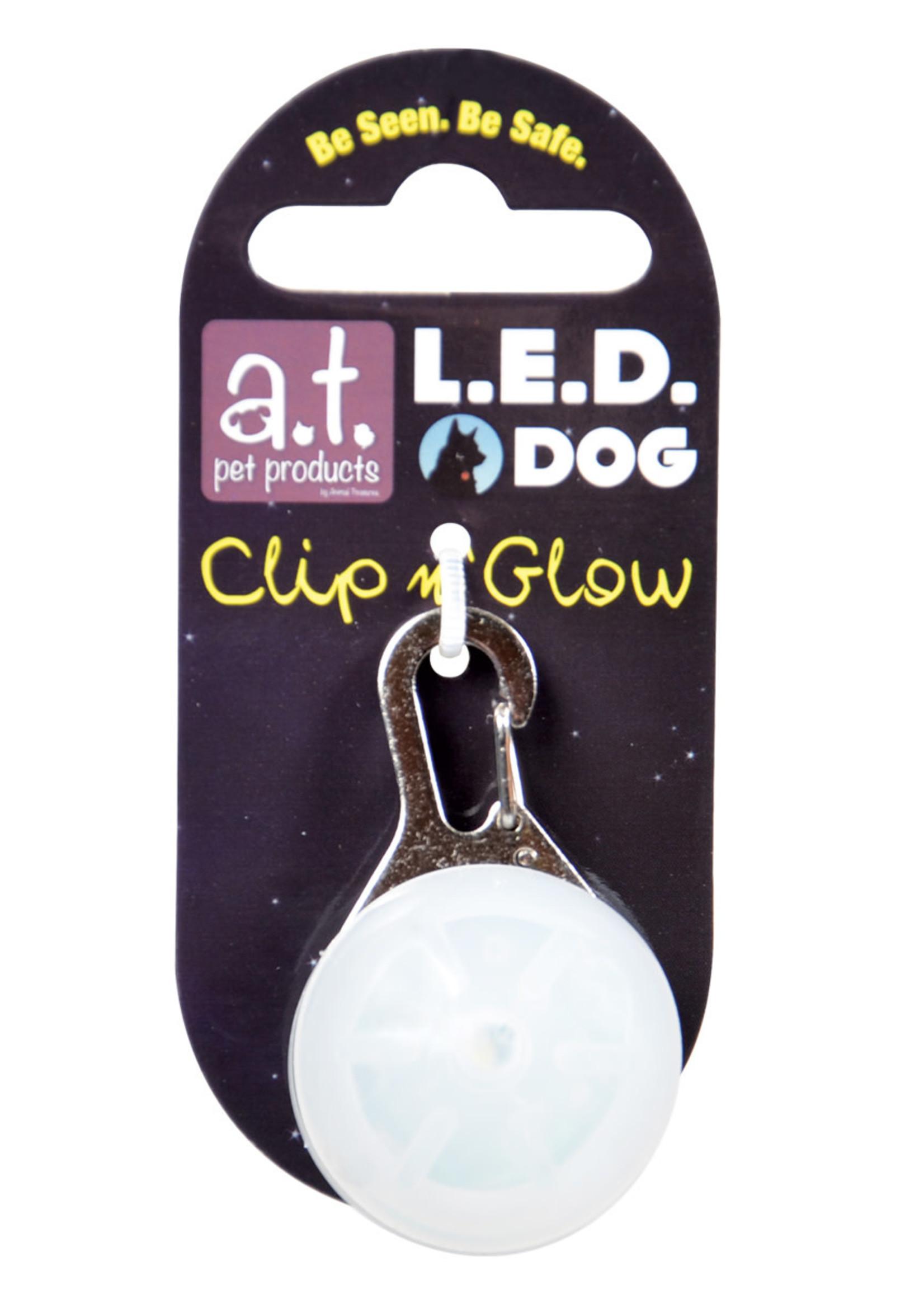 Animal Treasures Animal Treasures LED Clip n' Glow Tag - White