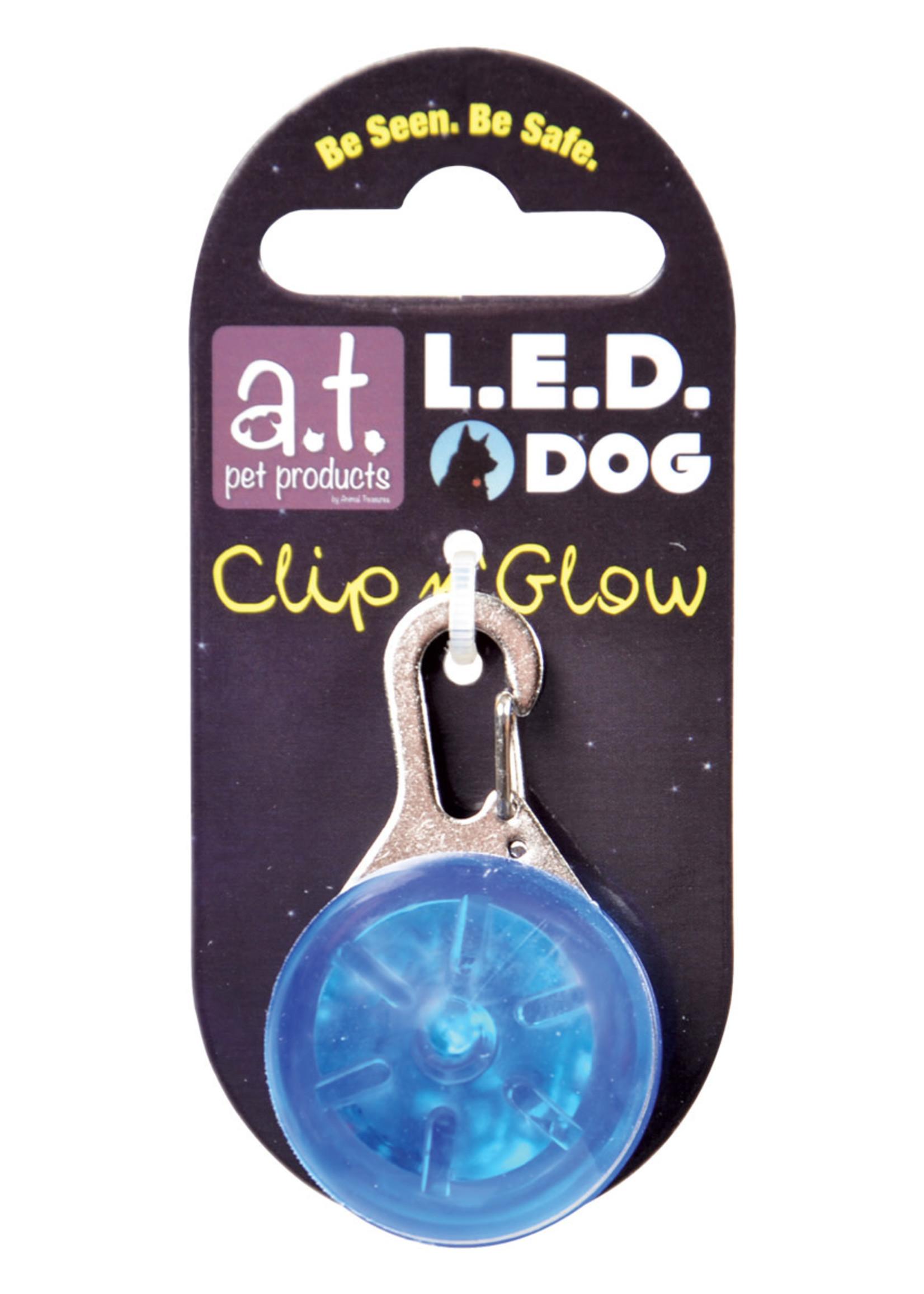 Animal Treasures Animal Treasures LED Clip n' Glow Tag - Blue