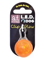 A.T PET L.E.D. COLLAR LIGHT ORANGE