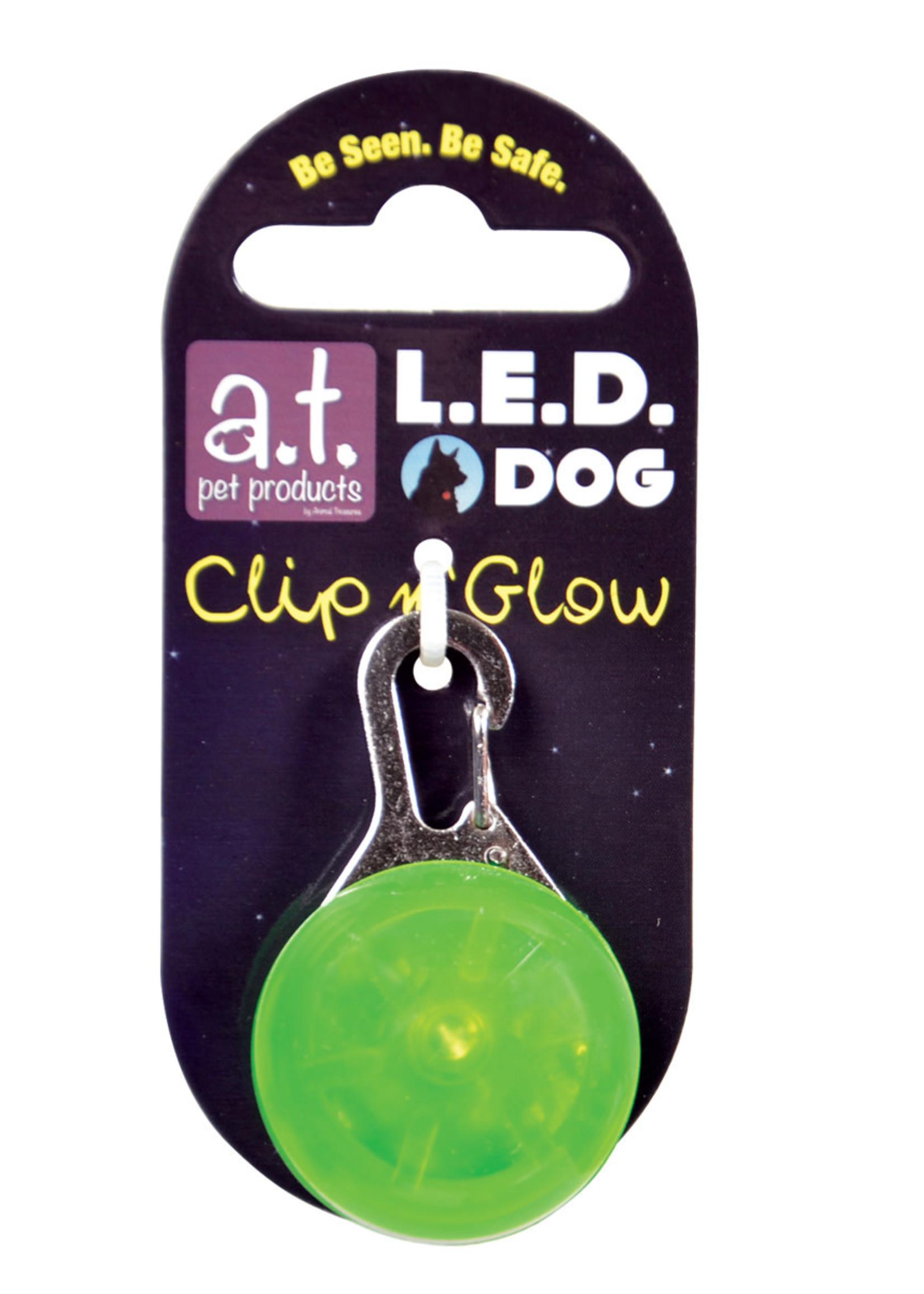 Animal Treasures Animal Treasures LED Clip n' Glow Tag - Green