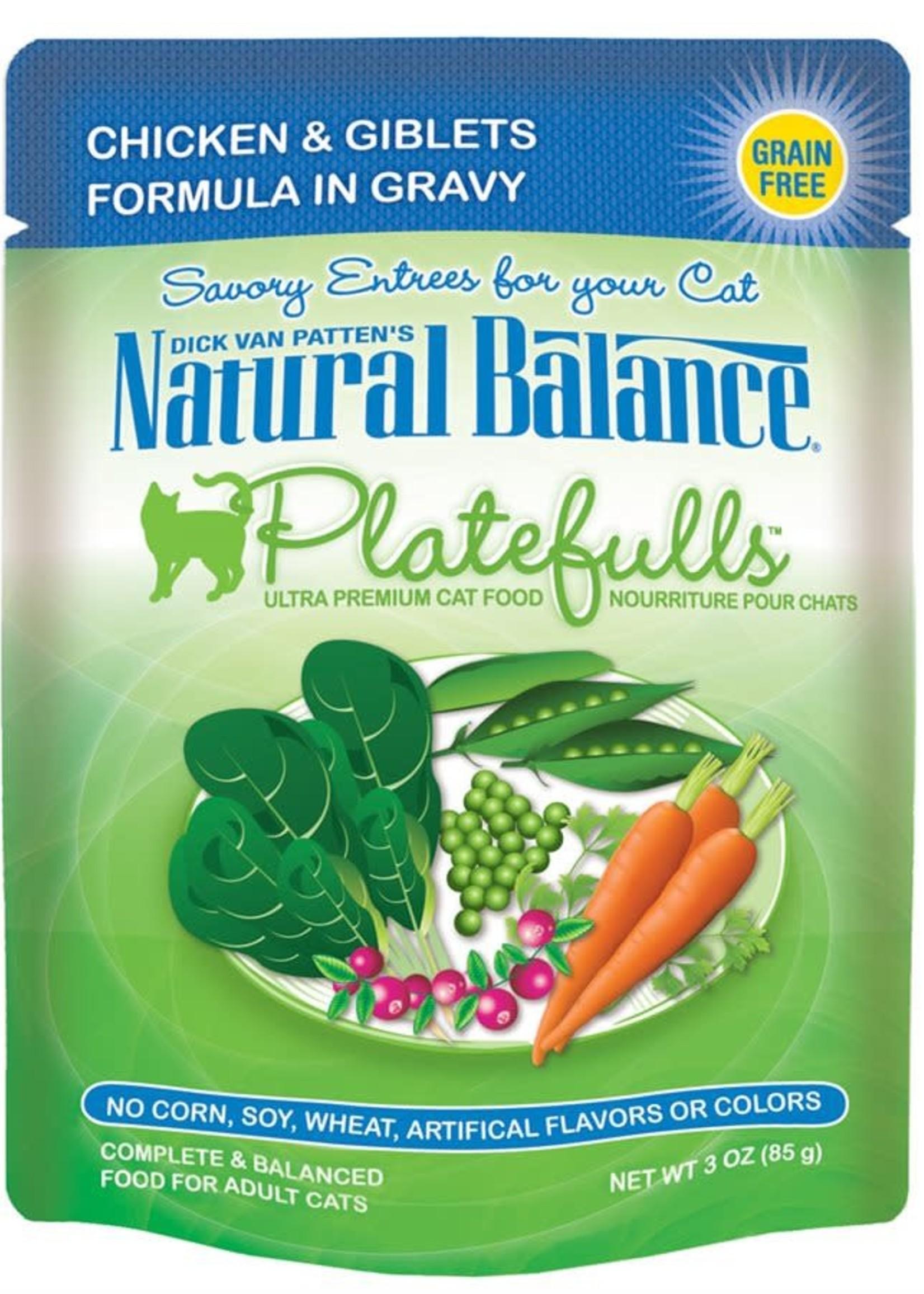 Natural Balance® NB CAT POUCH PLATEFULLS CHICKEN&GIBLETS 3oz