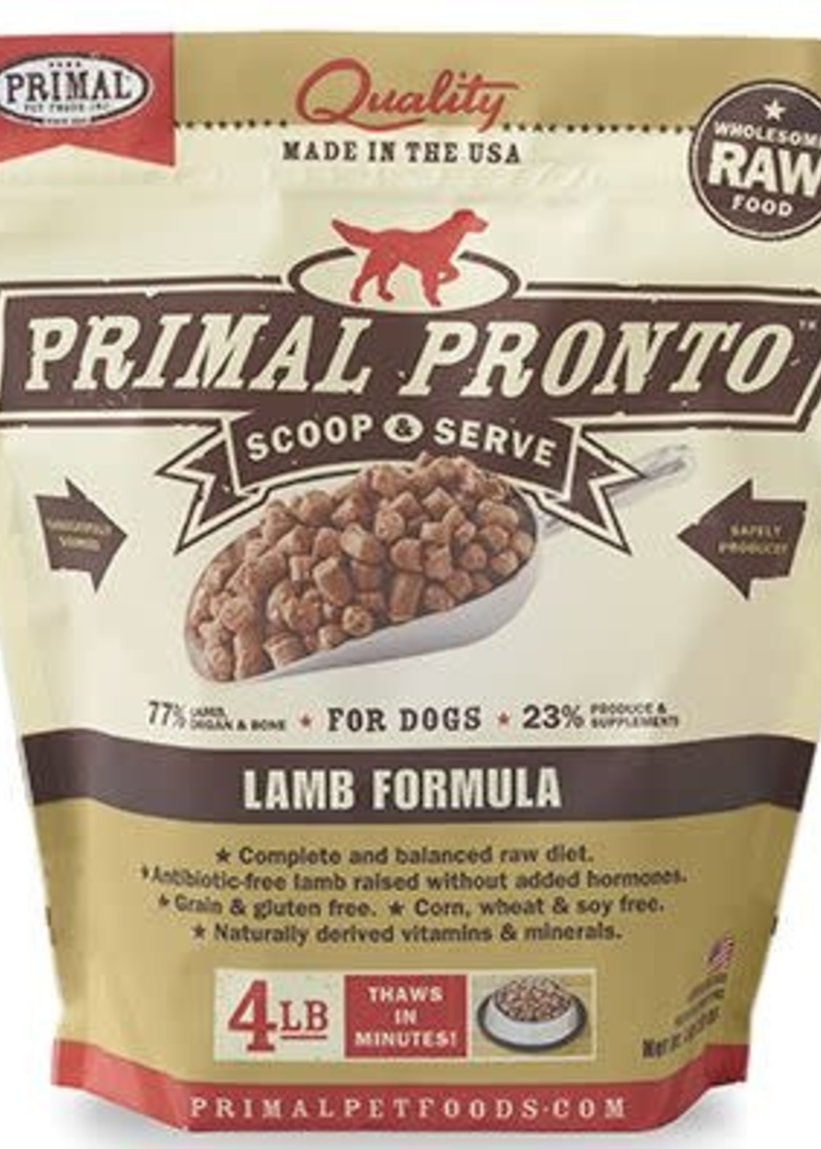 Primal Pet Foods Inc.™ Primal Pronto Scoop&Serve Raw Lamb Formula 4lbs