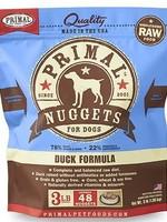 Primal Pet Foods Inc.™ Raw Frozen Nuggets Duck 3lbs