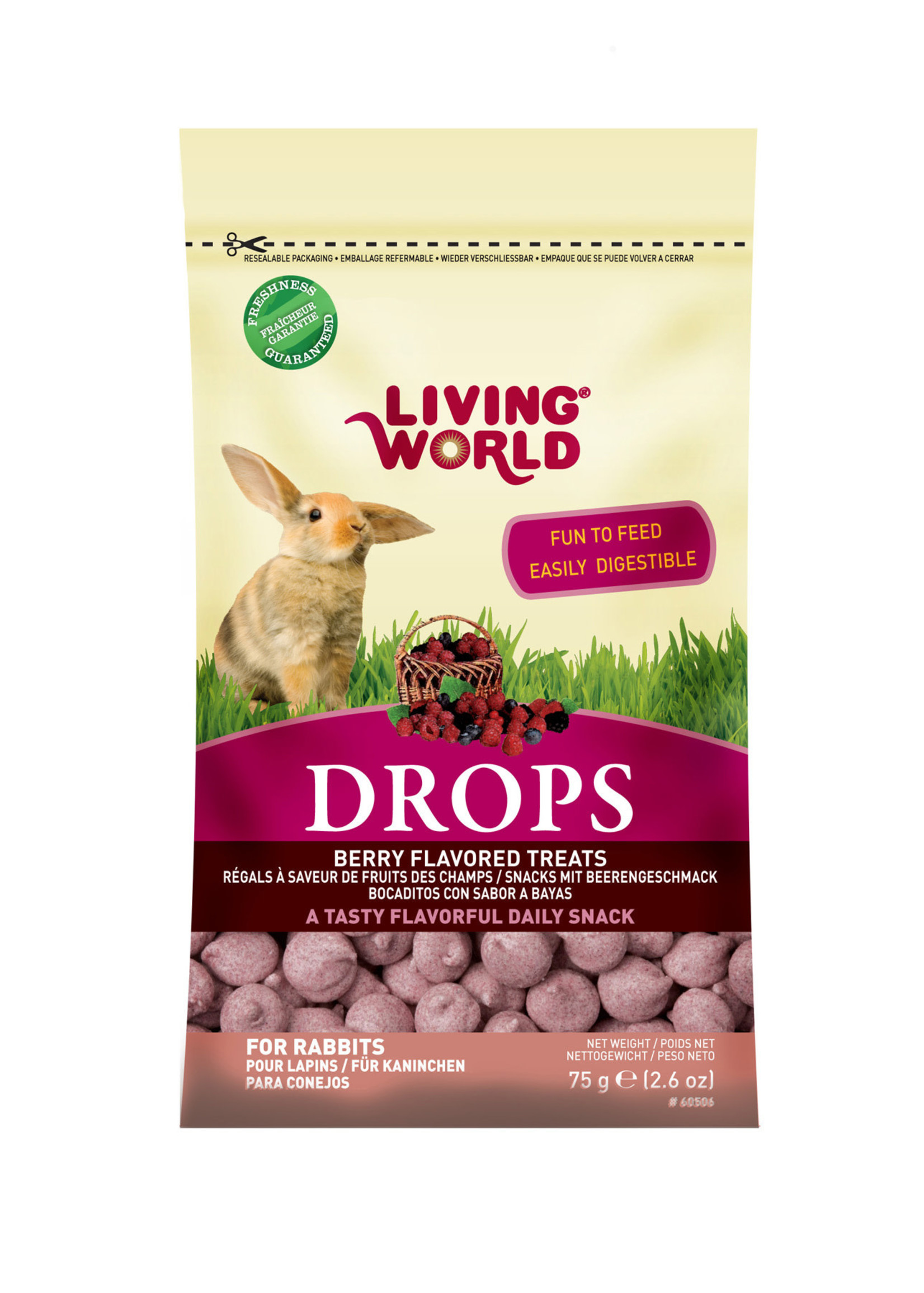 Living World® RABBIT DROPS FiELDBERRY FLAVOR 2.6oz