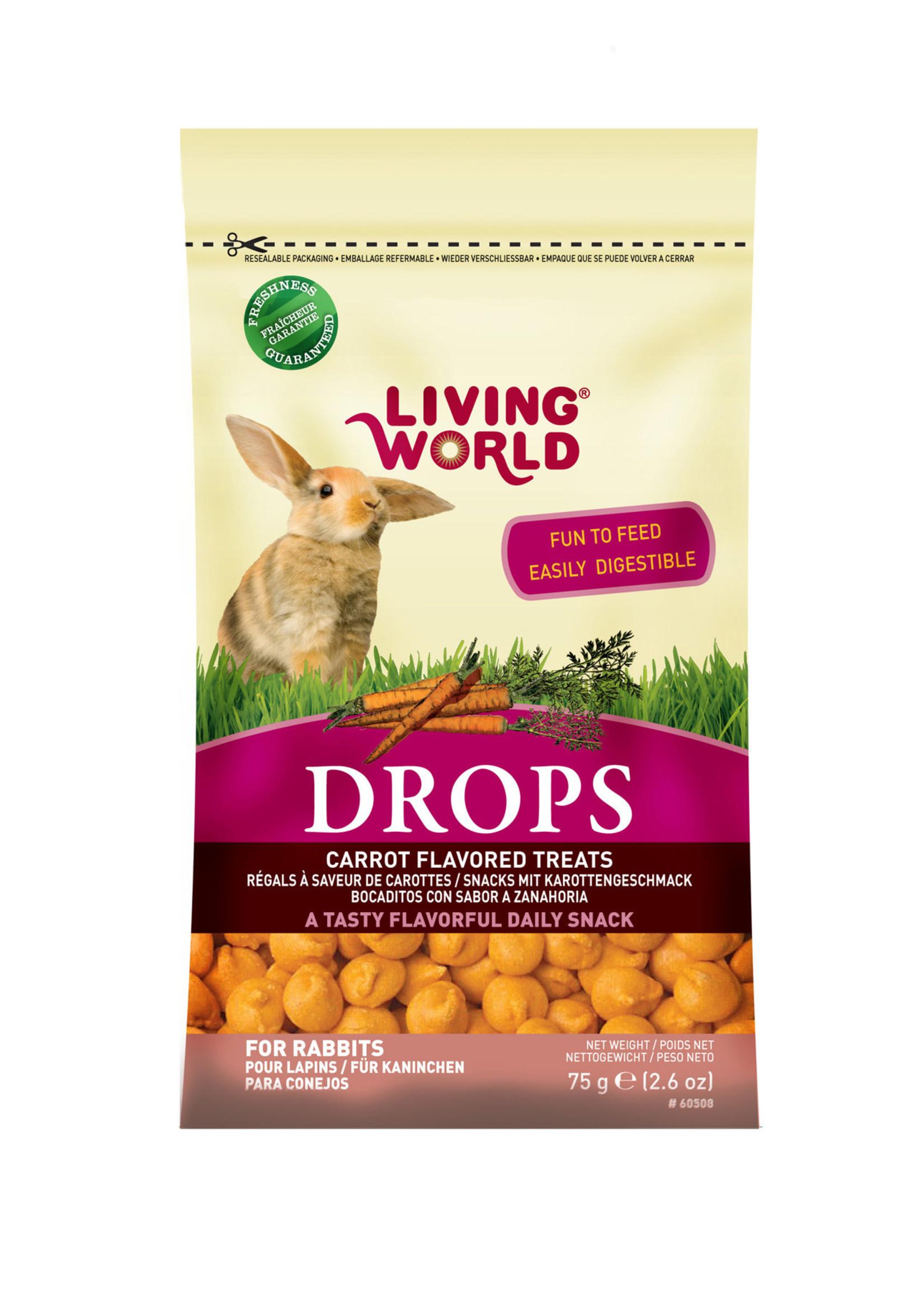Living World® RABBIT DROPS CARROT 2.6oz
