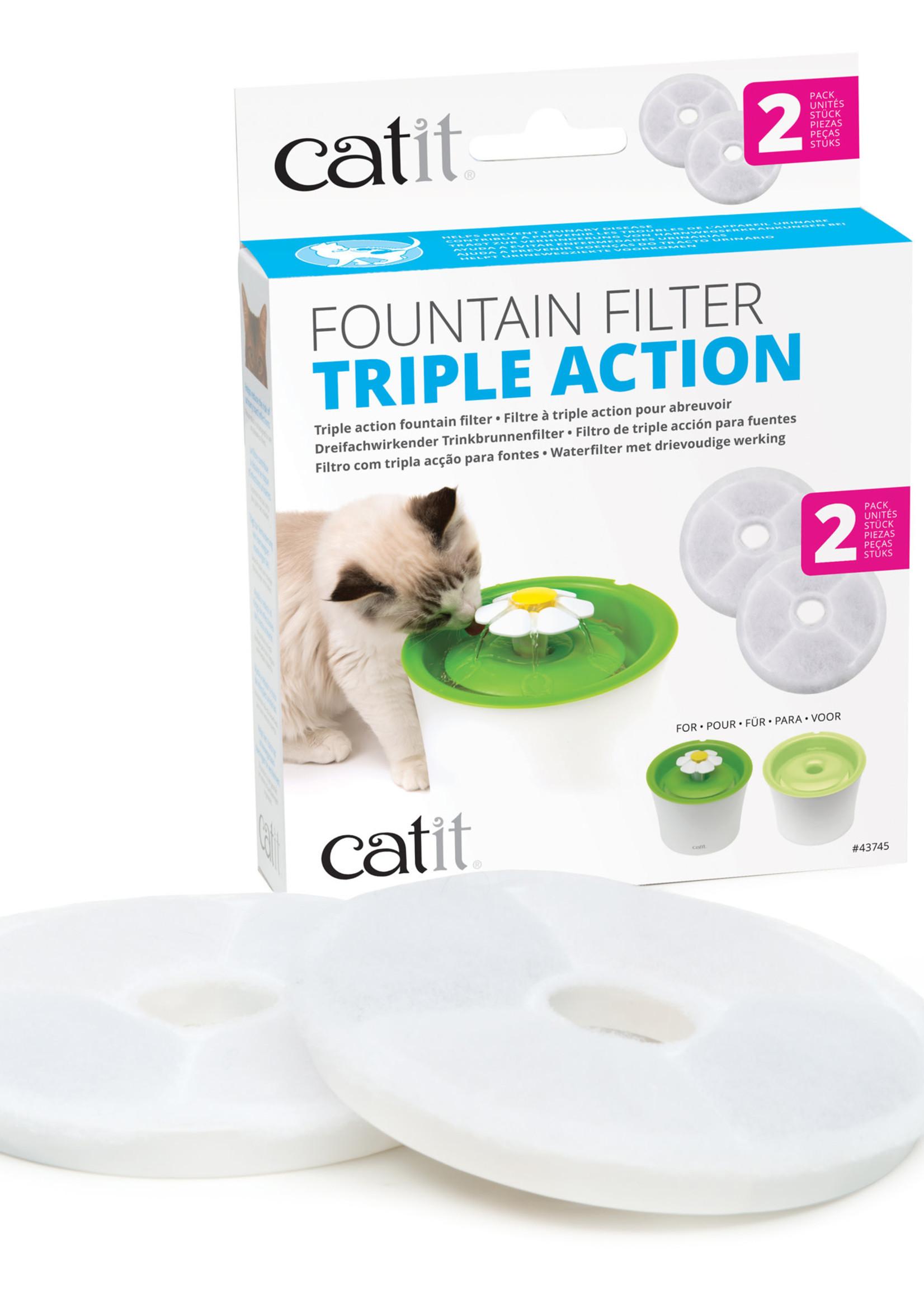 Catit® Fountain Filter Triple Action 2pk