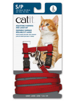 Catit® CAT IT ADJUSTABLE HARNESS&LEASH RED SML