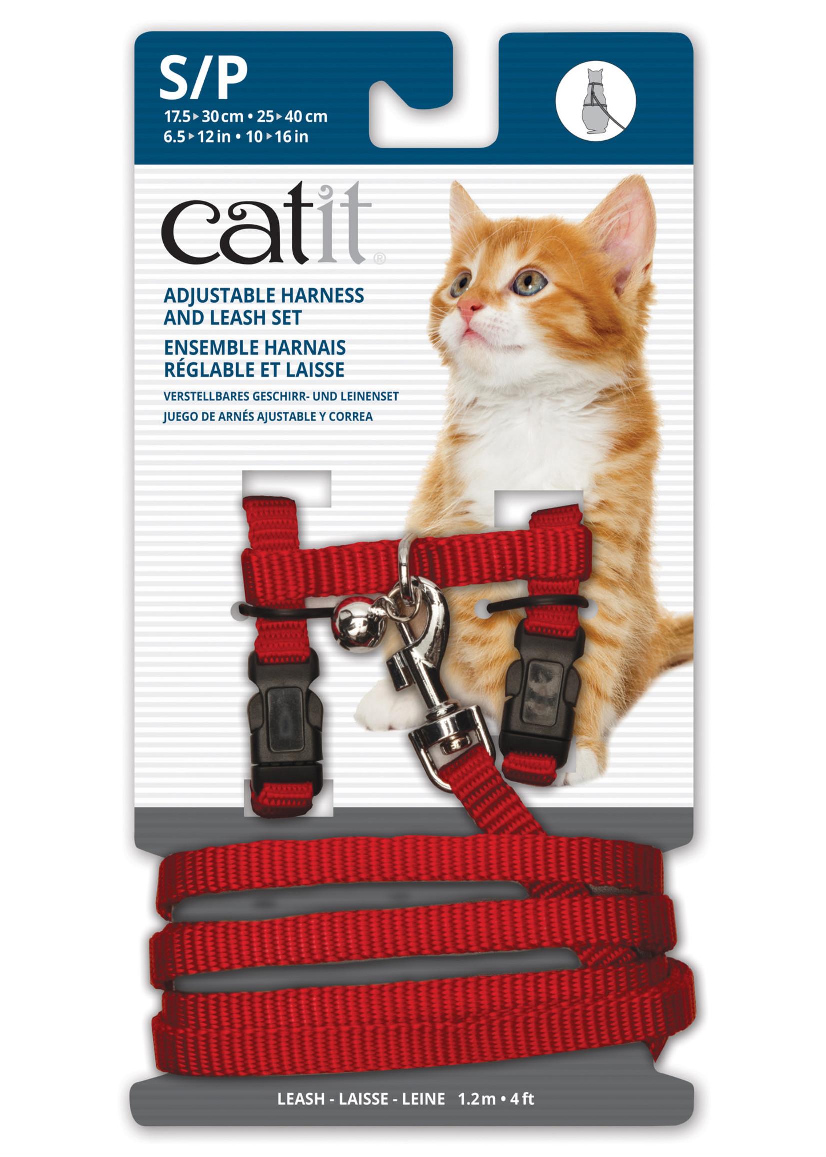 Catit® CAT IT ADJUSTABLE HARNESS&LEASH RED SML