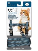 Catit® CAT IT ADJUSTABLE HARNESS&LEASH BLUE MED