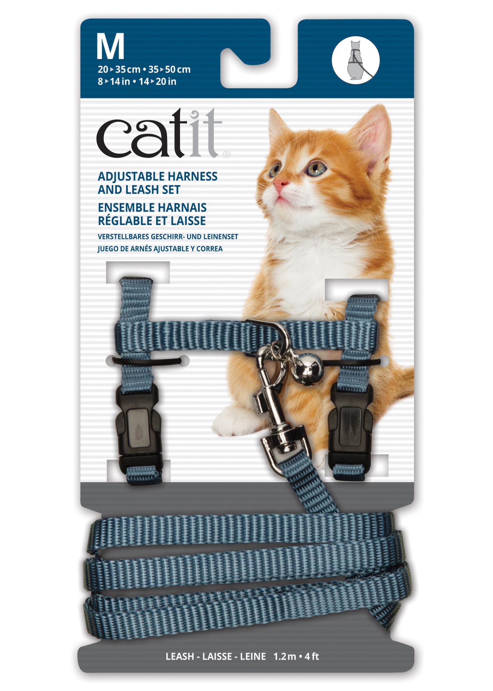 Catit® Catit Adjustable Nylon Harness & Leash Set Medium