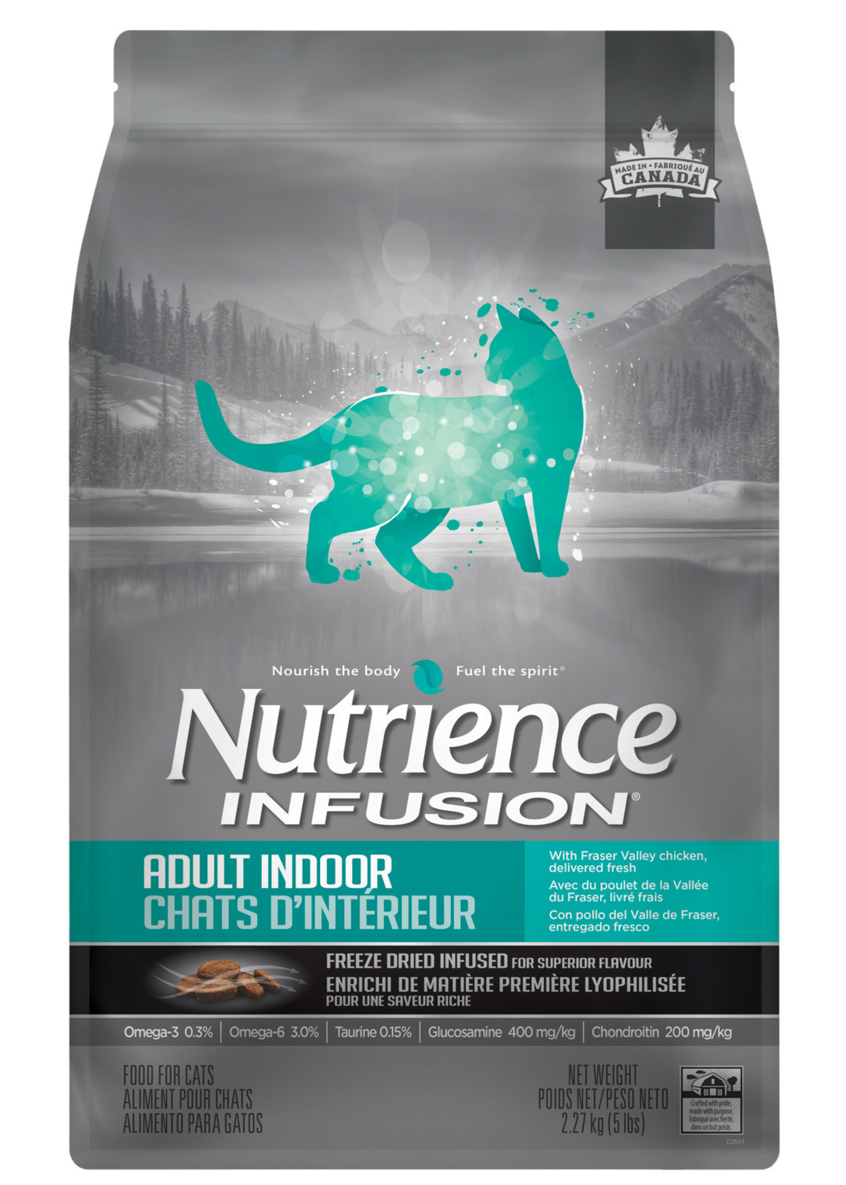 NUTRIENCE NUTRIENCE CAT INFUSION ADULT INDOOR CHICKEN 5lbs