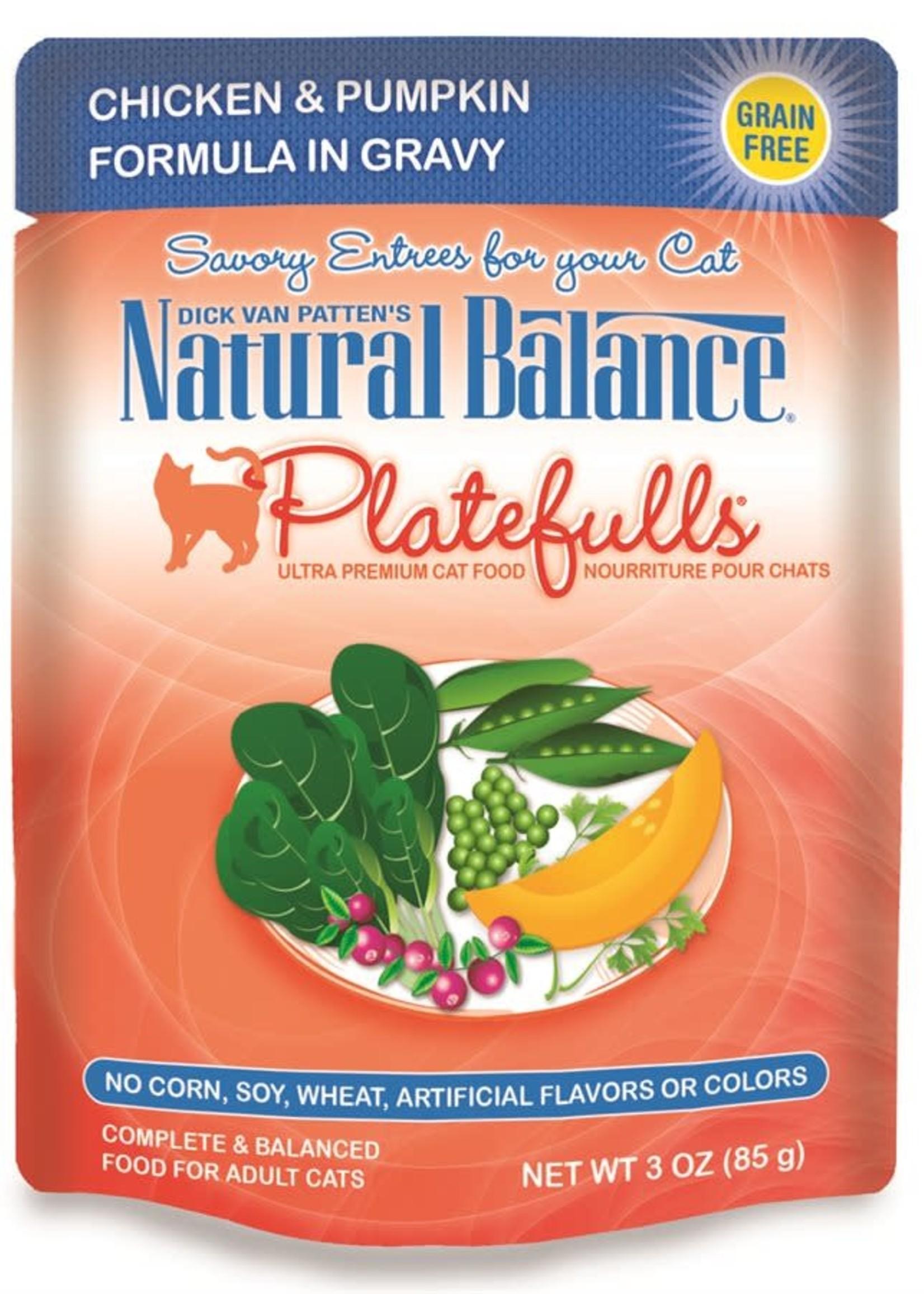 Natural Balance® NB CAT POUCH PLATEFULLS CHICKEN&PUMPKIN 3oz