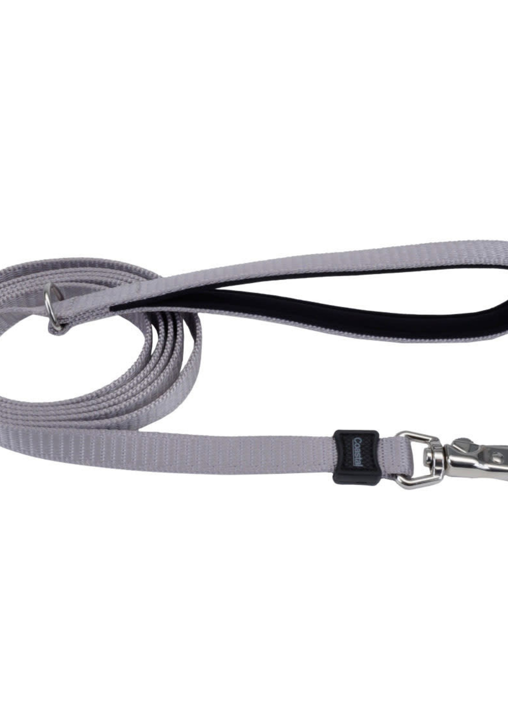 "Coastal® Inspire Neoprene Leash  1""x6' Grey"