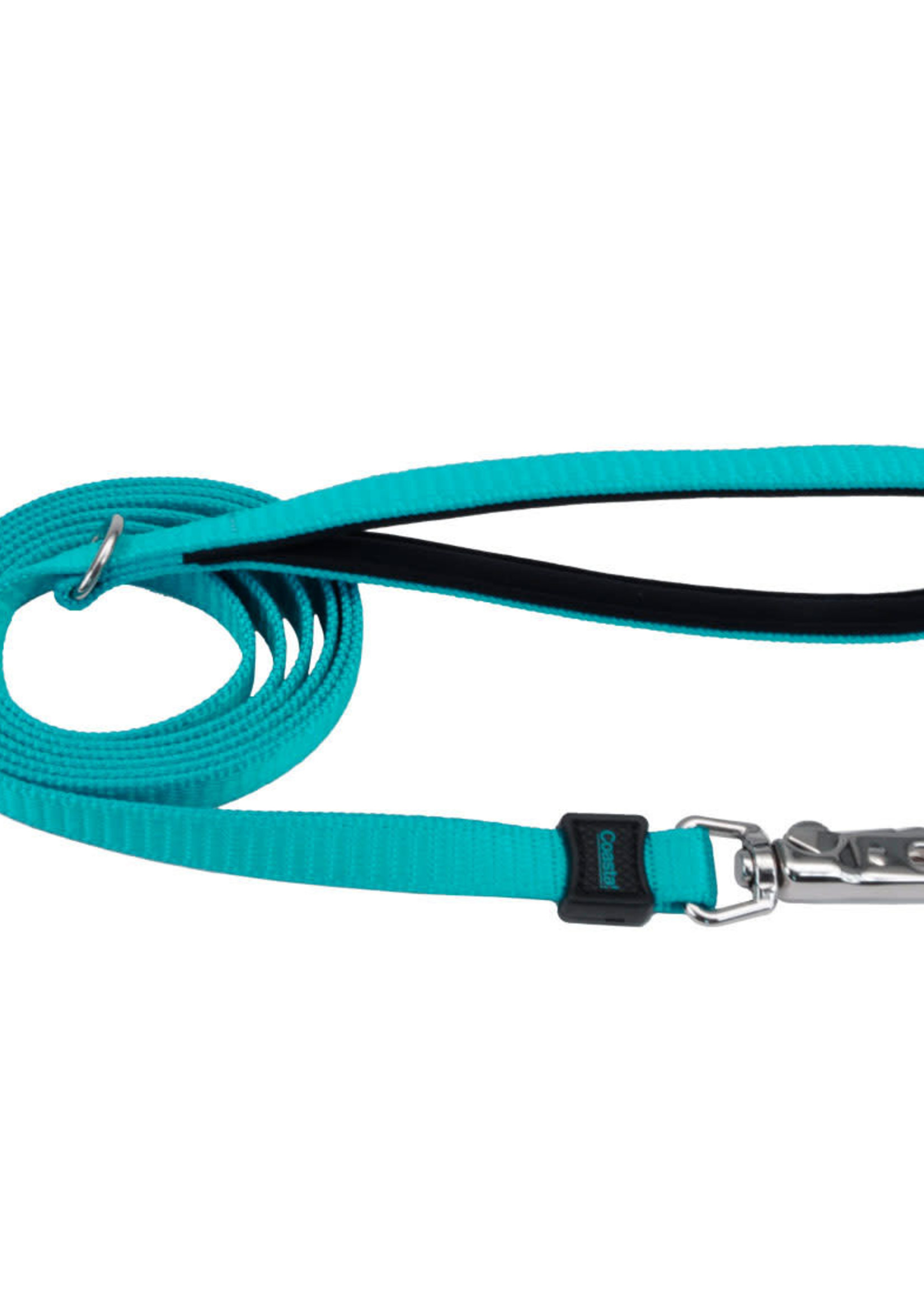 "Coastal® Inspire Neoprene Leash  1""x6' Aqua"