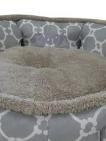 """Büd'z® Cuddler Bed Round Medium Gray 22x20"""""""
