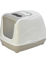 Moderna® Flip Cat Closed Litter Box Jumbo Grey