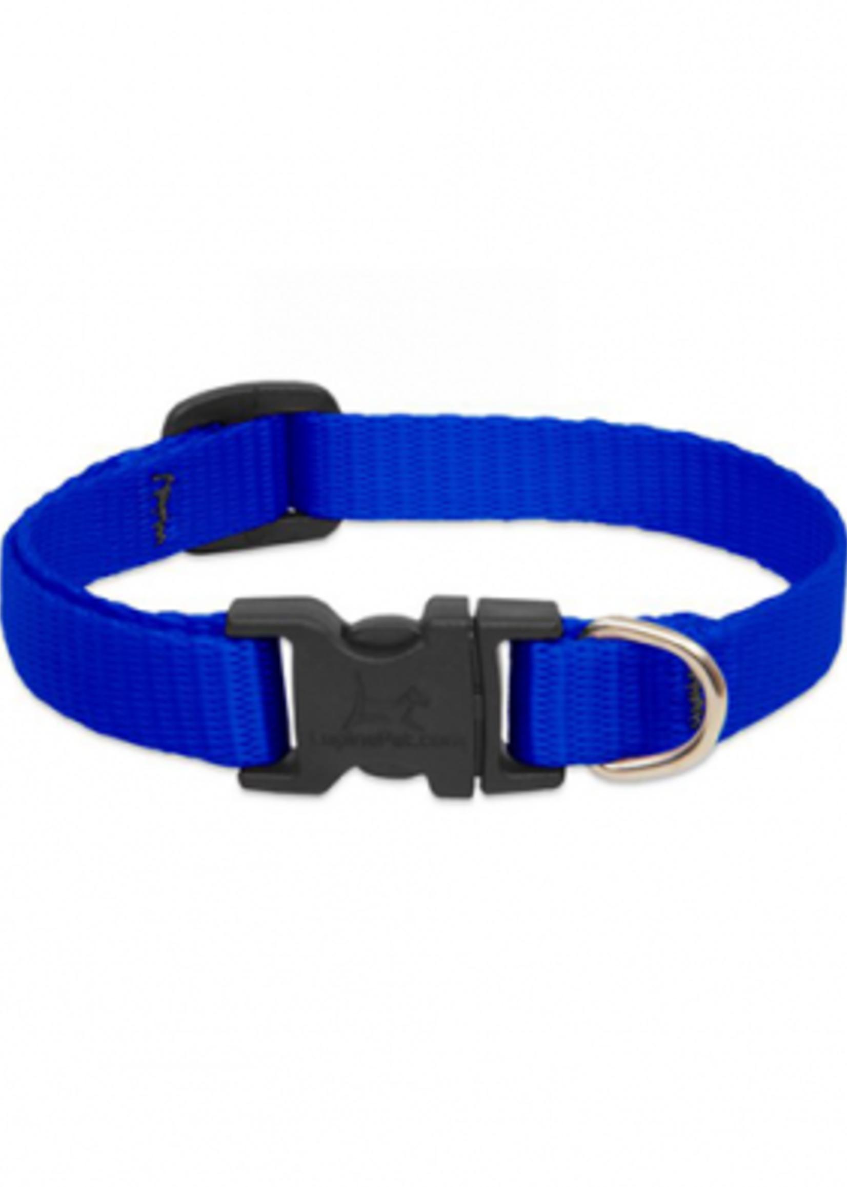"Lupine® LUPINE BASICS DOG COLLAR 1/2""x 8-12"" BLUE"